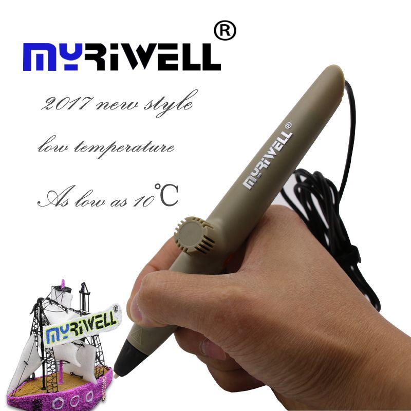 2017 nouveau Myriwell 3D Stylos D'impression RP-200A USB Basse Température 3D Doodle Stylo avec PCL matériel sûr pour Enfants Dessin cadeaux