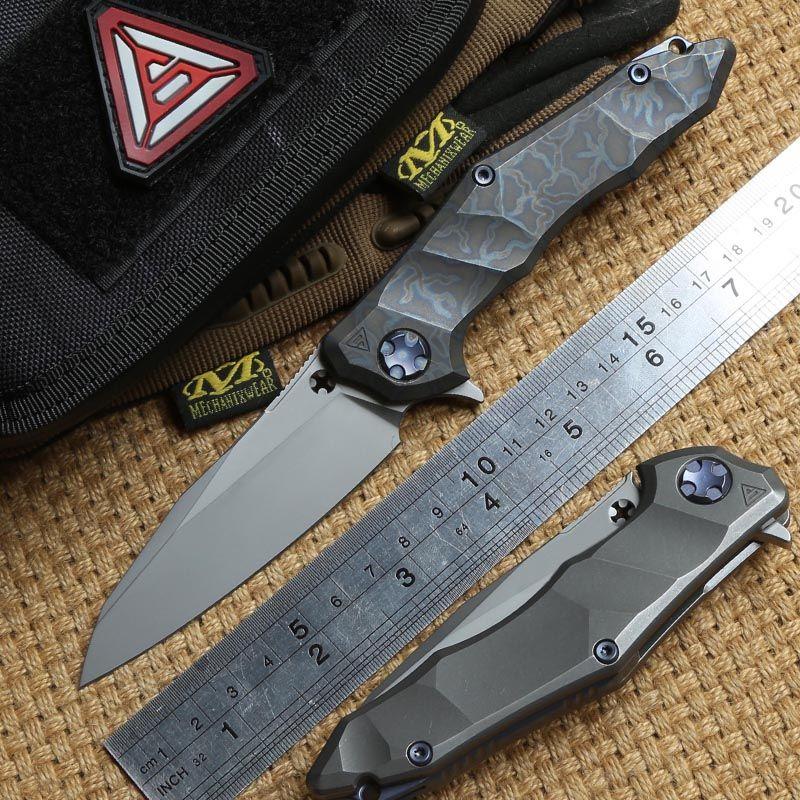 District 9 Original Paladin Flipper Ball bearing folding knife M390 blade Titanium camping hunting Survival knives EDC tool