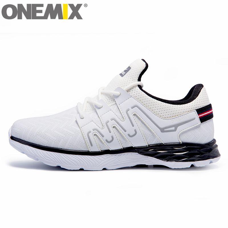 ONEMIX Männer Laufschuhe Athletisch Trainer Frauen Weiß Schwarz Zapatillas Sport Schuh Kissen Außen Gehen Sneaker