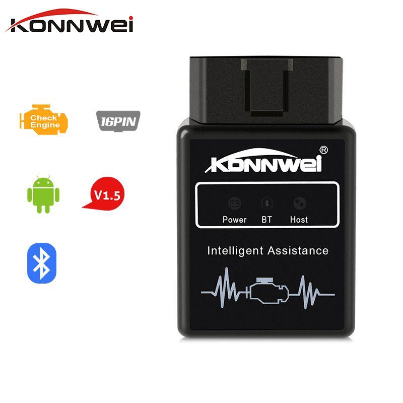 ELM327 V1.5 Bluetooth ELM 327 OBD2 OBDII адаптер Авто сканер для Android Крутящий момент код читателя диагностический инструмент для автомобилей konnwei KW912