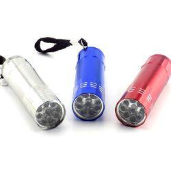 9 led Mini lampe de Poche Led blanche Lampe Protable petite poche Flash Light torch penlight porte-clés haute puissant pour la randonnée camping
