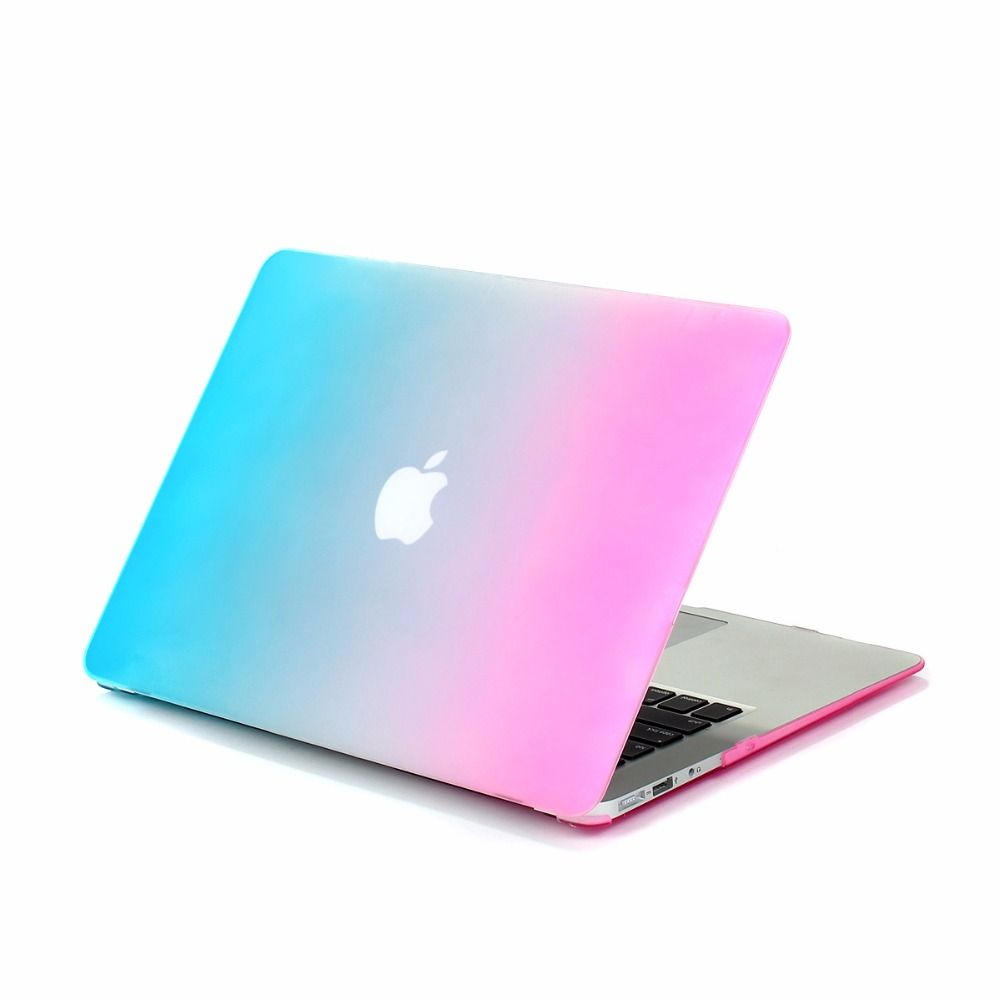 For Macbook Air 11 Case Rainbow Design Matte Rubberized Hard Cover Case Protector for Macbook Air 13 HardShell Laptop Bag Cases