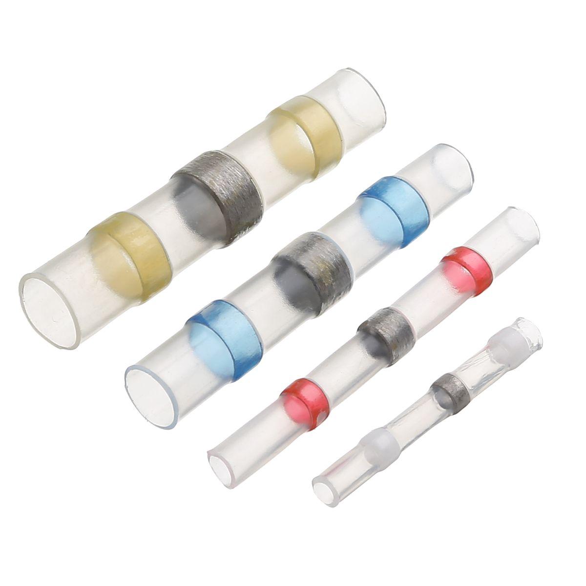 100pcs Waterproof Solder Sleeve Tube Set Heat Shrink Butt Wire Splice Connectors AWG 26-10