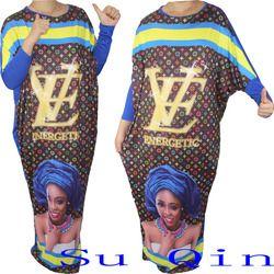 fashion design women maxi long femme vestidos african style clothing  dashiki baggy dress