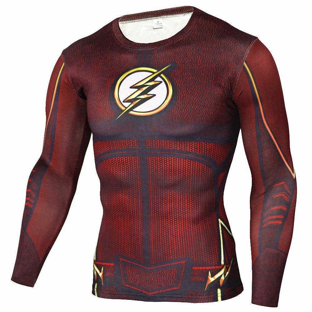 Hommes Anime le Flash Barry Allen 3D imprimé t-shirts Compression chemise Fitness hommes Crossfit noir panthère t-shirt marque vêtements