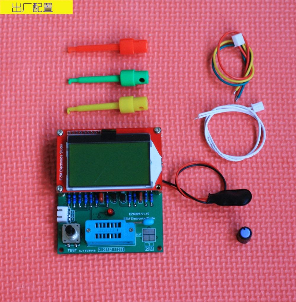 Digital Combo transistor tester ESR frequency LCR Diode Capacitor meter PWM squarer wave generator A9-018