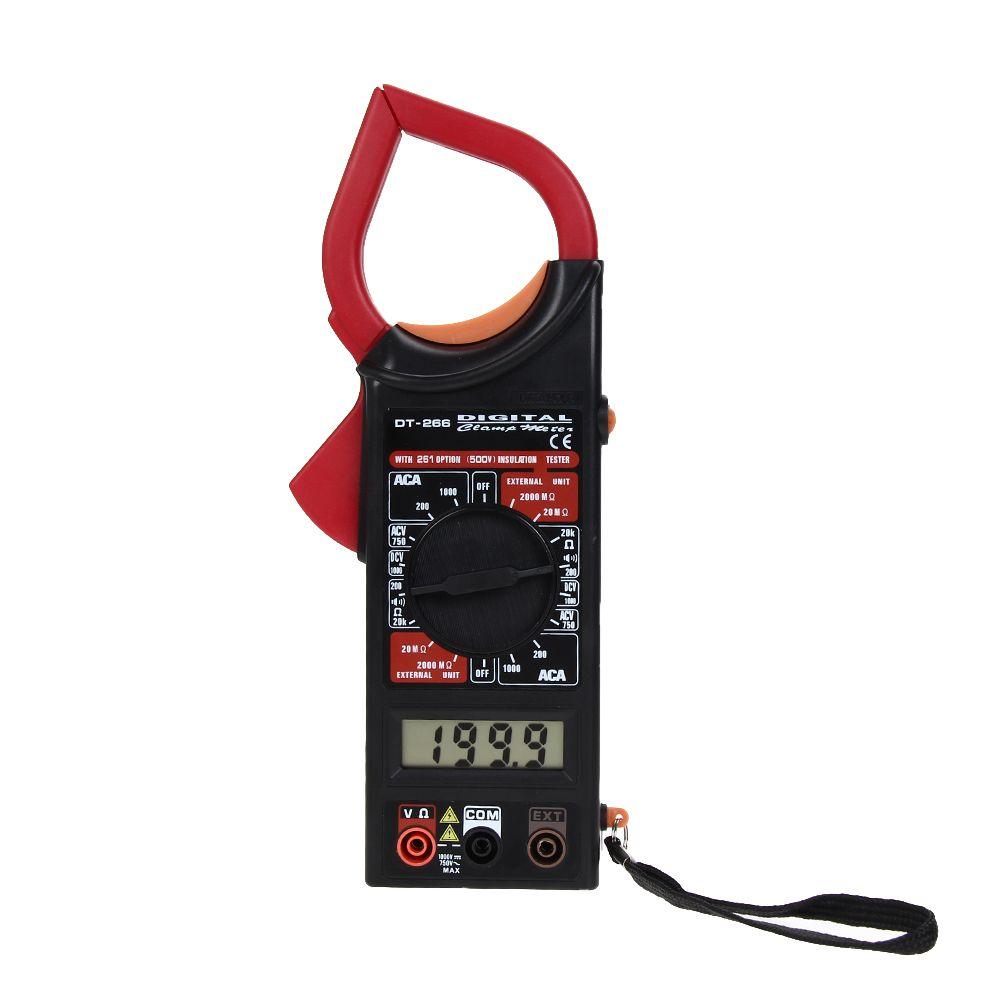 De poche Pince Multimètre DT266 LCD Multimètre Numérique Voltmètre Ampèremètre AC/DC Ohm Volt Amp Testeur Mesure Pince Outils