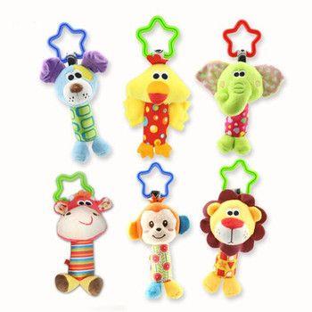 Новое поступление детские игрушки колокольчики животных плюшевая детская игрушка для мальчиков и девочек для малышей и детей, подарок детс...
