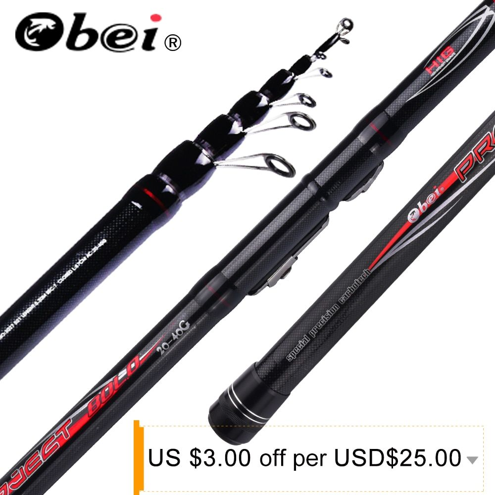 obei project Telescopic Portable Bolo Fishing Rod 3.8-6.0m Travel Ultra Light Spinning Casting float fishing 20-40G pole
