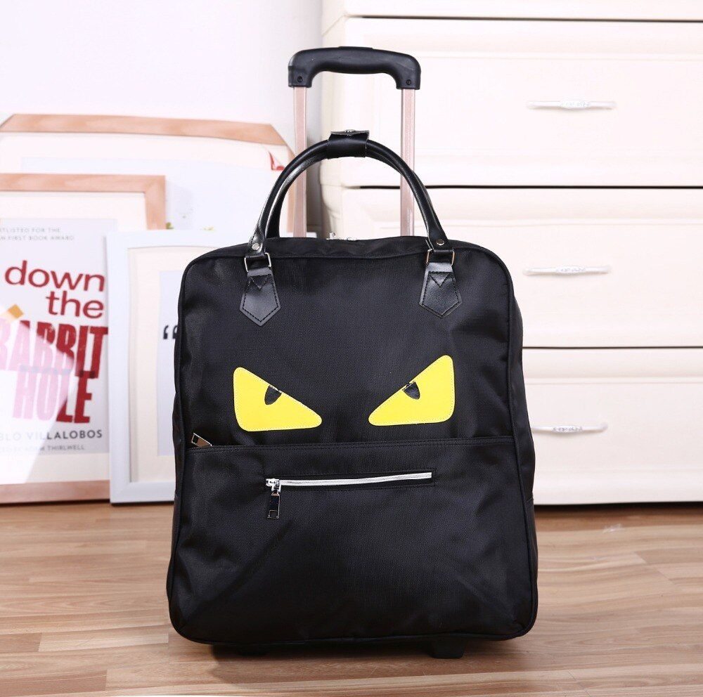 2017 New Trolley Bag Commercial Travel fashion Luggage Bags Carry-on PU Leather  20inch 36L-55L Rolling Duffle Bags Waterproof