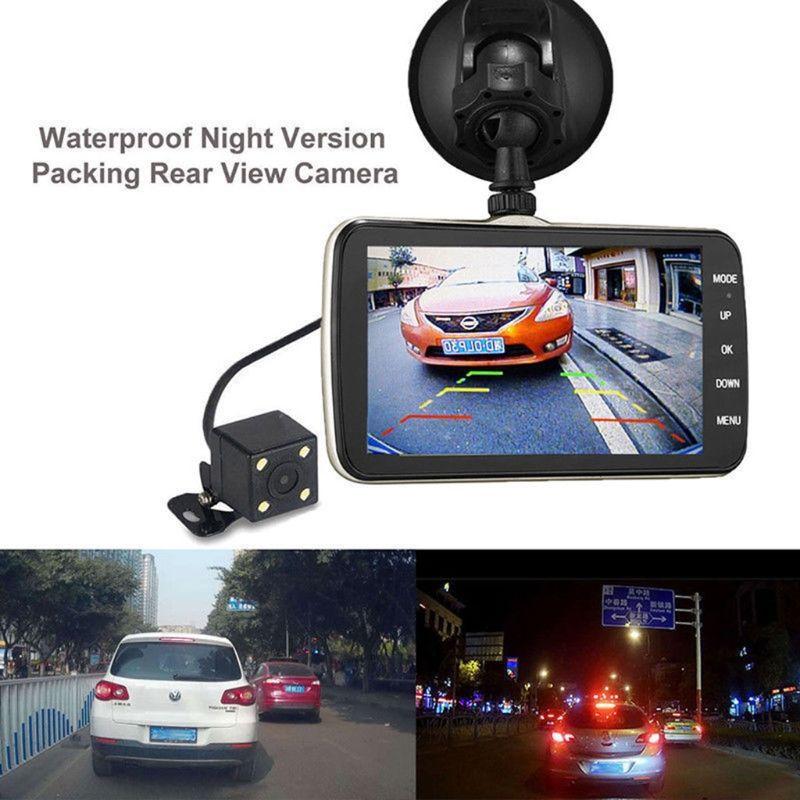 2018 Dual Lens 4.0 Inch Screen Car DVR Camera Full HD 1080P Video 170 Degree Dash Cam