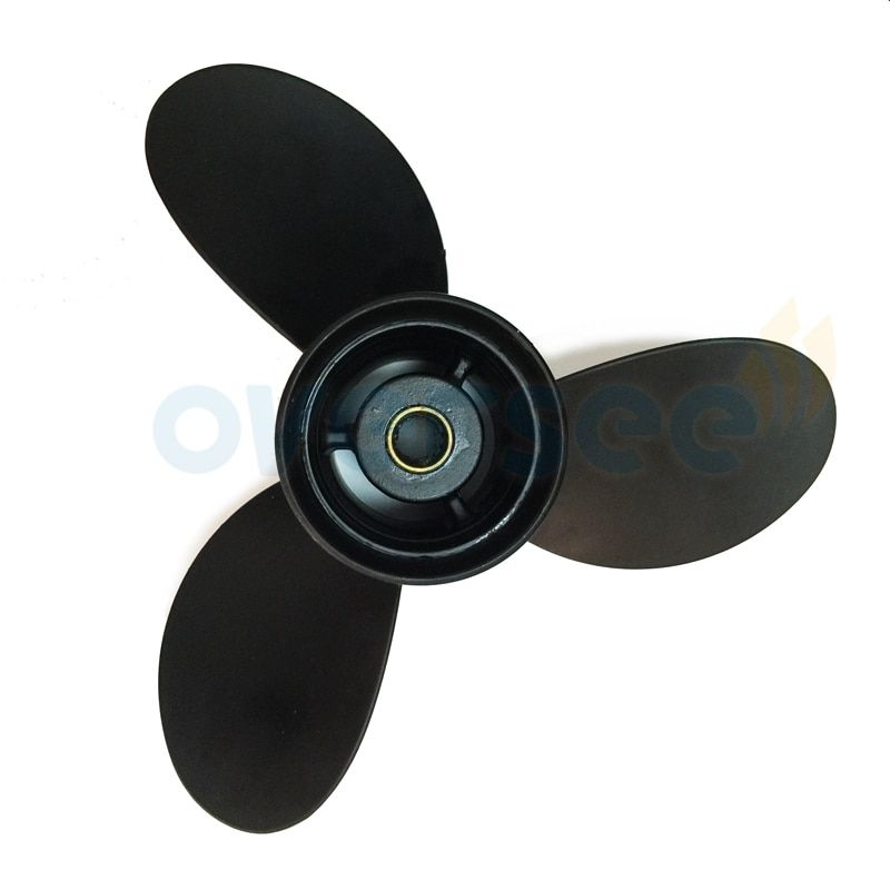 OVERSEE 3B2W64517-1 Aluminum Propeller Size (8.5) 8.5x9 For Tohatsu 9.8HP Outboard Motor 8HP 9.8HP  9 pitch