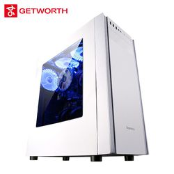 GETWORTH S4 Intel I3 8100 3.6GHz Office Gaming PC Desktop Computer 1TB HDD 4GB RAM Office Home Desktop With 3 free Fans White