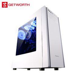 GETWORTH S4 Oficina escritorio I3 8100 1 TB 4G RAM computadora del juego para LOL Excel PPT Color blanco H110M genuino Win10 puede añadir 120g SSD