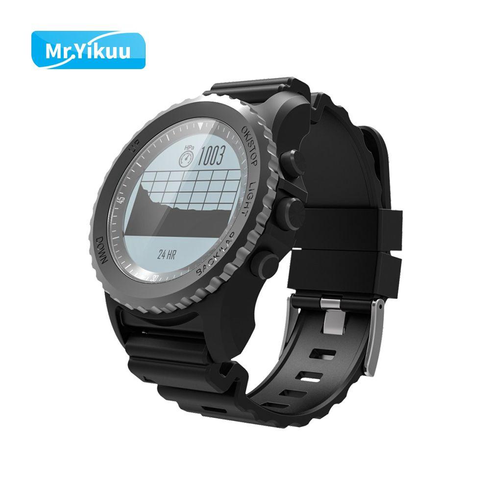 GPS Professionelle Sport Smart Uhr Wasser Temperatur Track Record Barometer Für Triathlon iPhone 8 Samsung Xiaomi Huawei Uhr