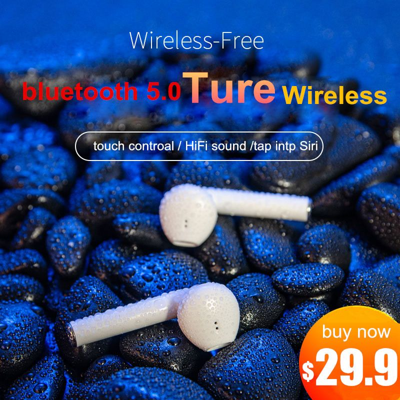 K1 tws Wireless Earphone Bluetooth 5.0 Touch control Earbuds 3D Surround Sound With Charging case PK i10 TWS