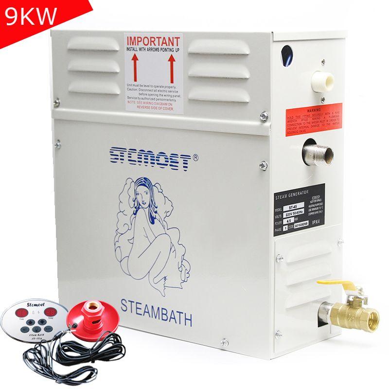 9 KW 220 V 380 V Dampf Generator Sauna Für Sauna Zimmer Control Dampfbad Maschine Für Home Spa Entspannt müde Begasung ST-90 CE