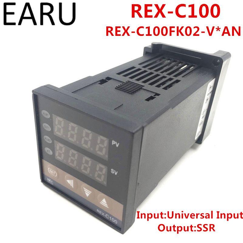 RKC REX-C100 REX-C100FK02-V * EINE Digitale Pid-temperaturregelung Steuergerät Thermostat Ssr-ausgang 0-400 Grad Universaleingang