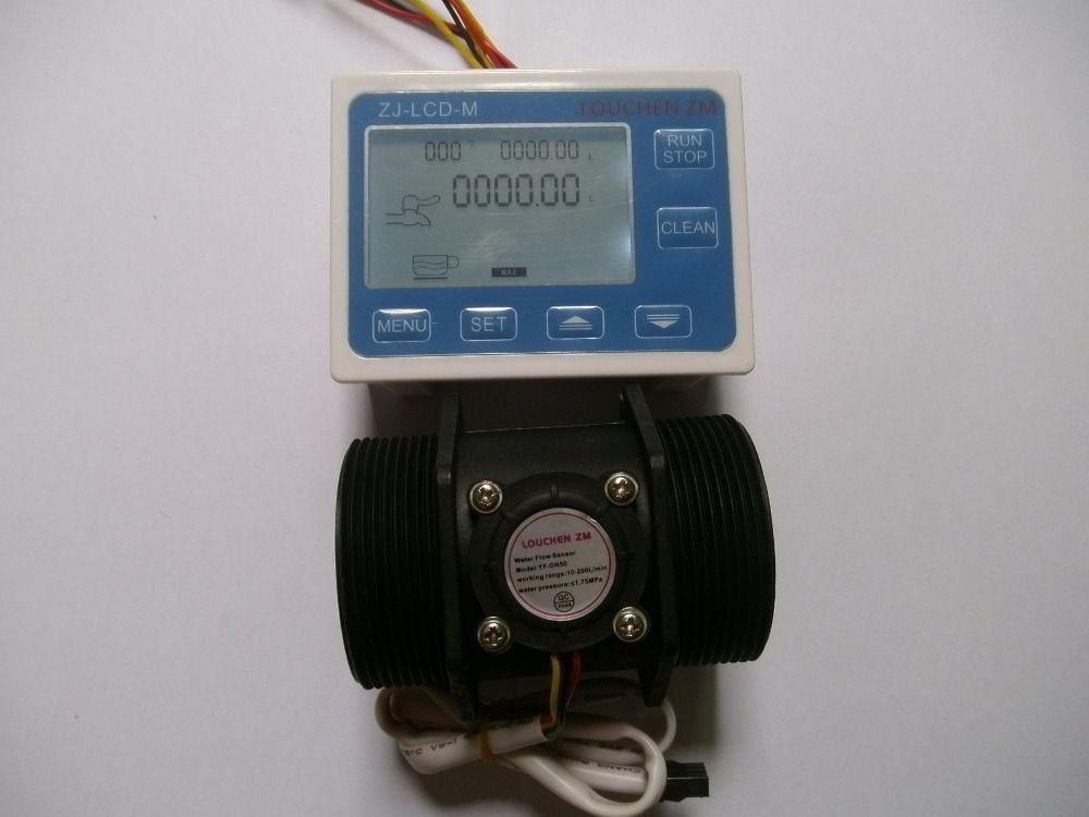 Water Flow Sensor Meter+ LCD Display Digital Flowmeter Quantitative Control ZJ-LCD-M Operating temperature -20-100C
