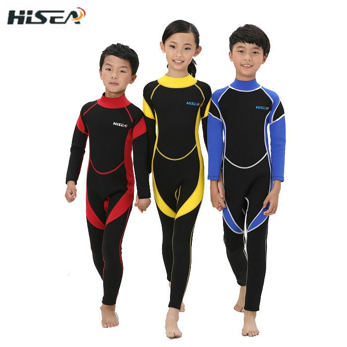 kids wetsuits 3mm neoprene Children's wetsuit for boys swimming diving Rash guard surfing