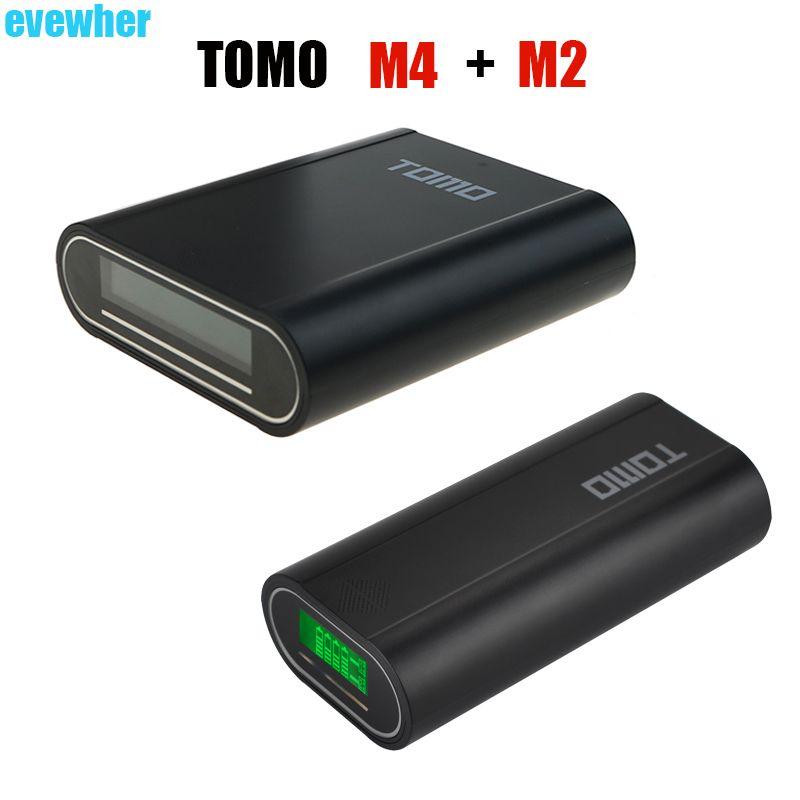 TOMO M4 coque housse de batterie portative chargeur Station et TOMO M2 bricolage Powerbank boîtier LCD indicateur de puissance affichage (pas de batterie)