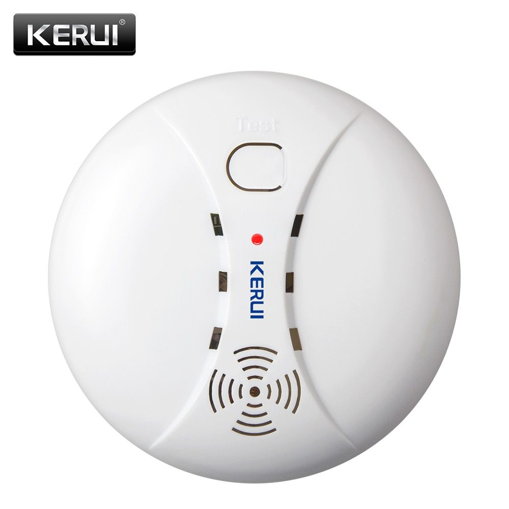 Détecteur de fumée de Protection incendie sans fil KERUI capteurs d'alarme portables pour système d'alarme de sécurité domestique dans notre magasin