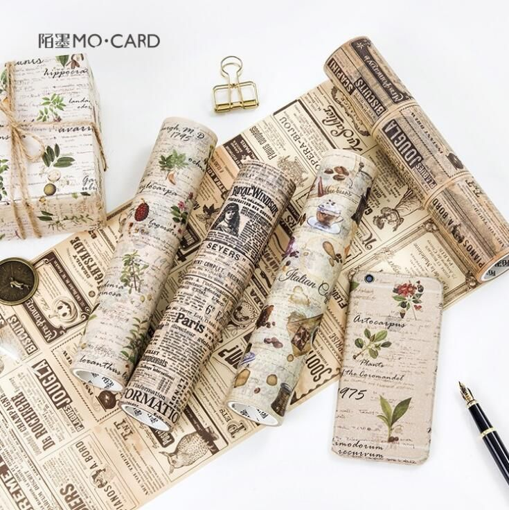20 CM de Ancho Periódico Lácteos Lo Decorativo Washi Cinta Adhesiva Cinta DIY Scrapbooking Etiqueta adhesiva Cinta Adhesiva