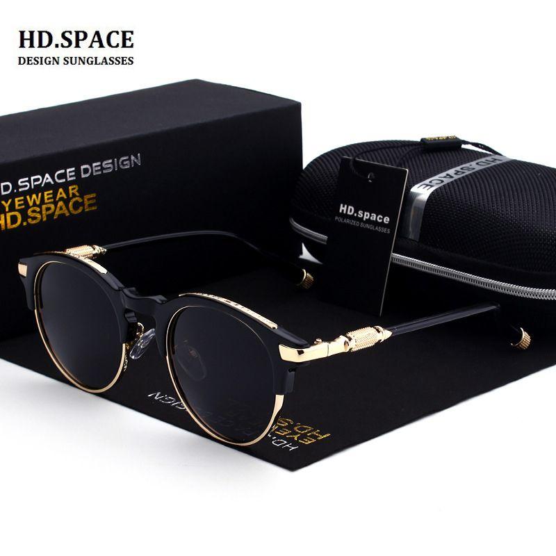 2018 femmes et hommes polarisées lunettes de SOLEIL RÉTRO Ronde cadre enduit lunettes de Soleil lunette de soleil femme lunettes de soleil femmes