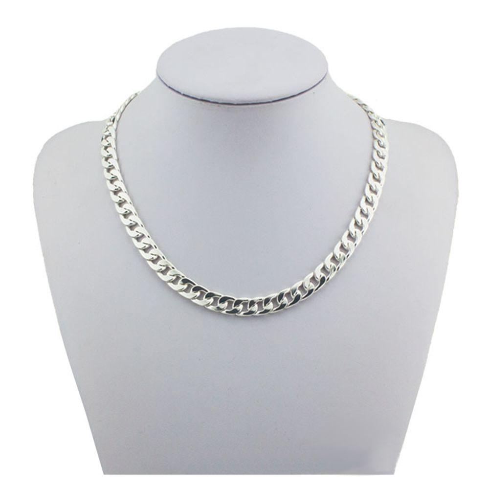 Мода 925 стерлингов Серебряные ювелирные изделия тяжелые толстые звено цепи Цепочки и ожерелья мужской Для мужчин партии 5 мм шириной 18 20 22 дю...