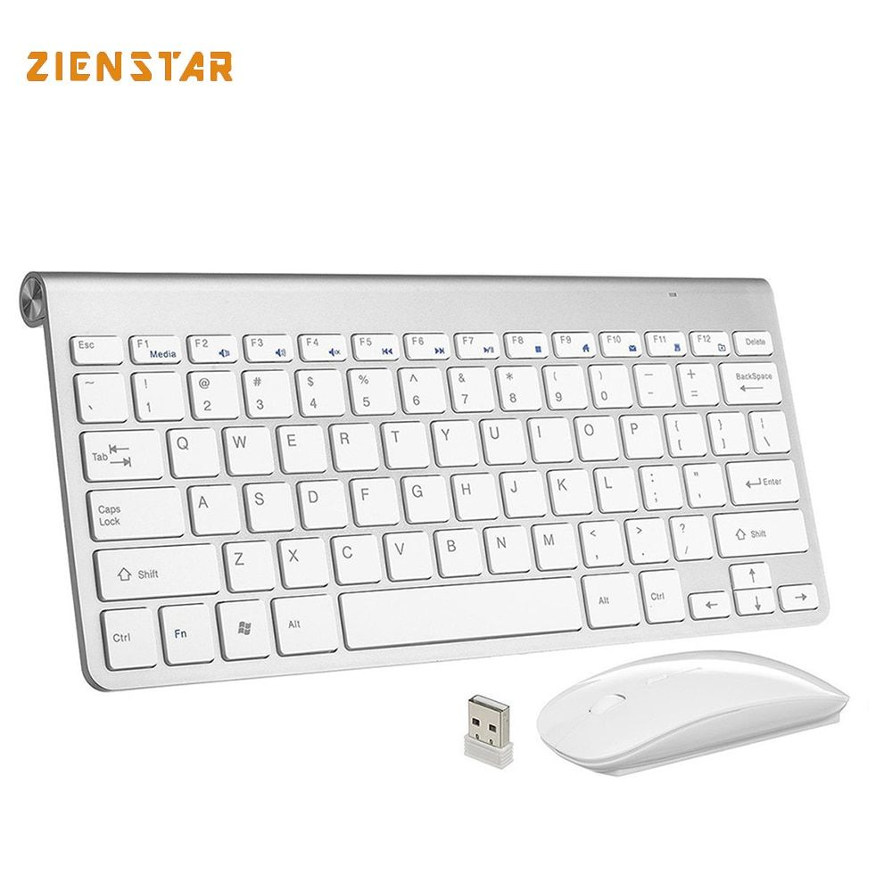 Ultra Thin Wireless keyboard mouse 2.4G keyboard Mouse combo and 2.4G USB Receiver for Macbook,Computer PC,Laptop and TV BOX