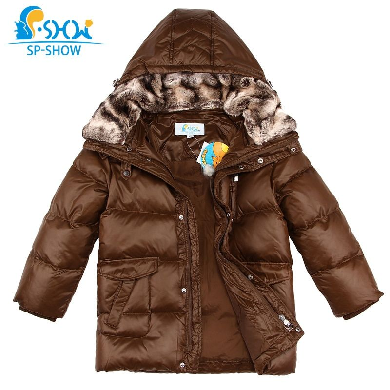 Winter Reimo Down Jacket For Boys Luxury Brand Boys Winter Jacket With Fur Collar Children Jackets For 7-13 Age Boy Parkas 0158