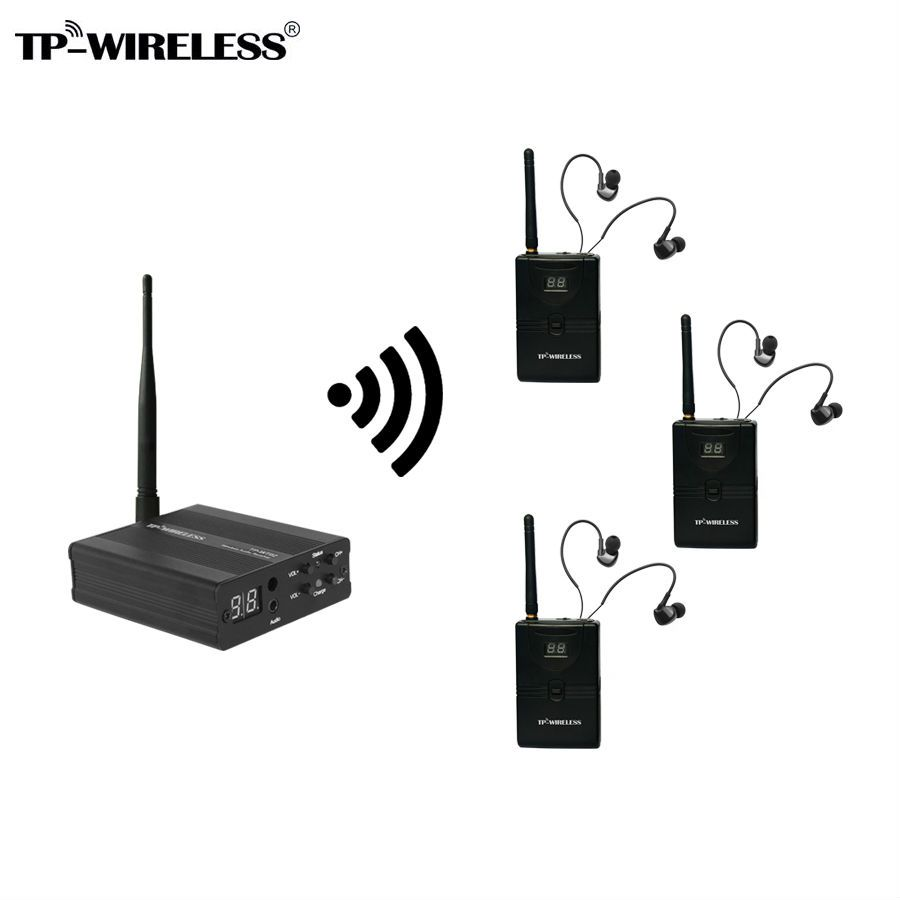 TP-Wireless Monitor System Stage audio Monitor System Wireless In Ear Monitor System 1 transmitter & 3/4/5/10 receivers
