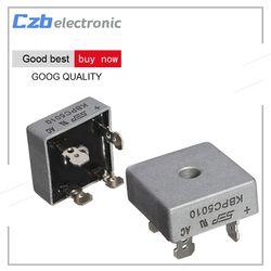 1Pcs 50A 1000V Metal Case Single Phases Diode Bridge Rectifier KBPC5010 AL