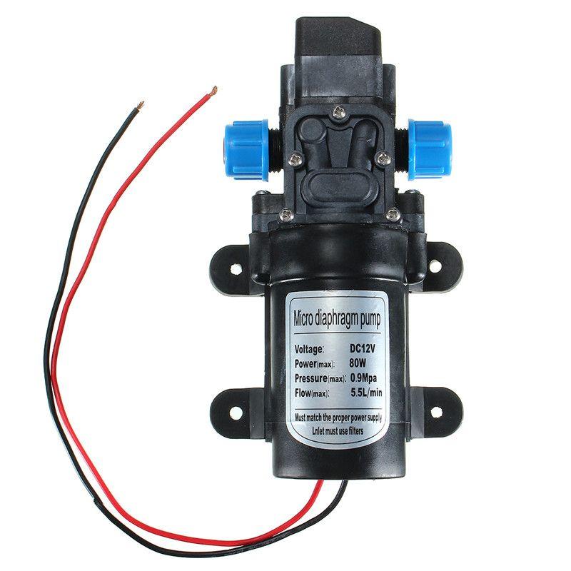 1 шт. DC12V 80 Вт 0142 Двигатель 5.5l/мин высокое Давление Мембранный воды Самовсасывающий насос легко установить