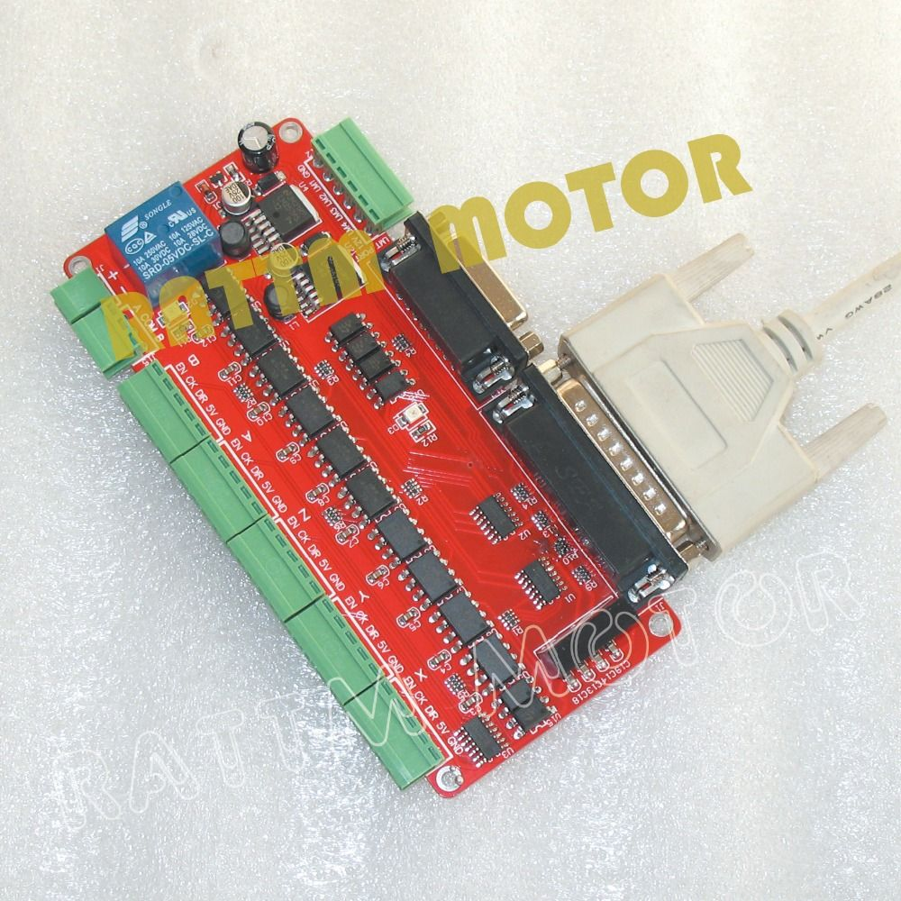 5 axis CNC Breakout board interface adapter board V8 type with optical coupling CNC controller