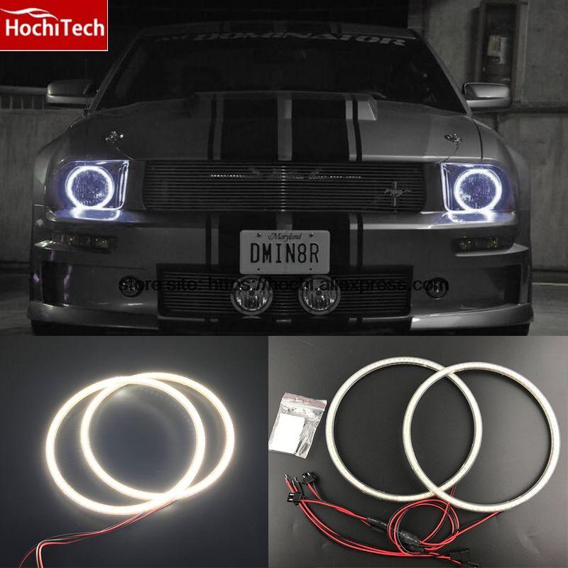 HochiTech Ultra bright SMD white LED angel eyes 2000LM 12V halo ring kit daytime running light DRL for ford Mustang 2005 - 2009