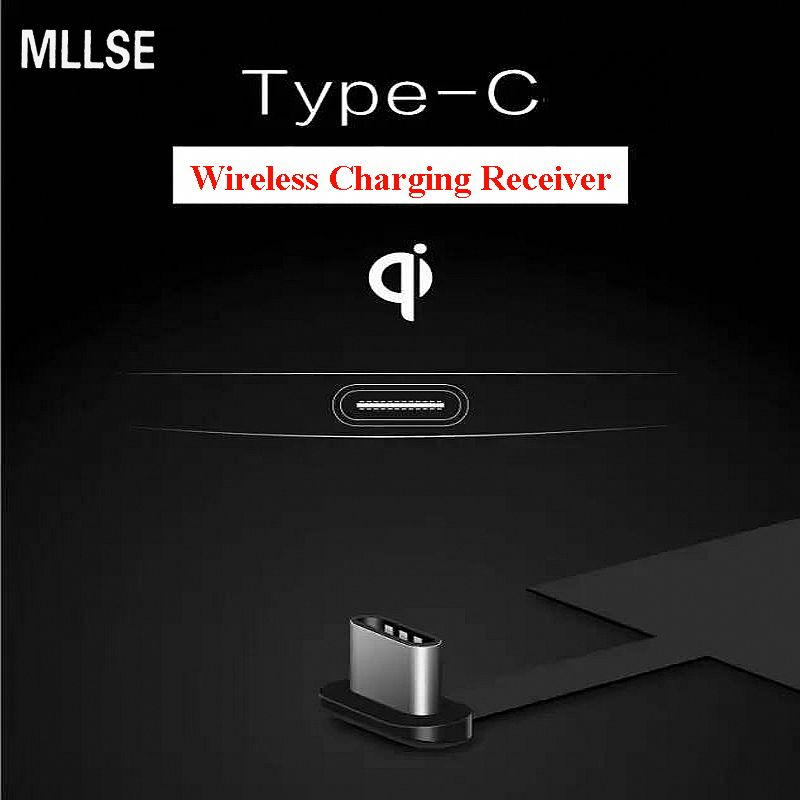 MLLSE Universal Type-C Qi  Wireless Charger Charging Receiver for Huawei P9 Plus Nexus 5X 6P Xiaomi Mi6 5 Oneplus 2 5 Letv Max 2