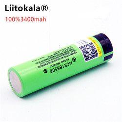 Умное устройство для зарядки никель-металлогидридных аккумуляторов от компании Liitokala: новый оригинальный 18650 NCR18650B 3400 мА/ч, Перезаряжаемые л...