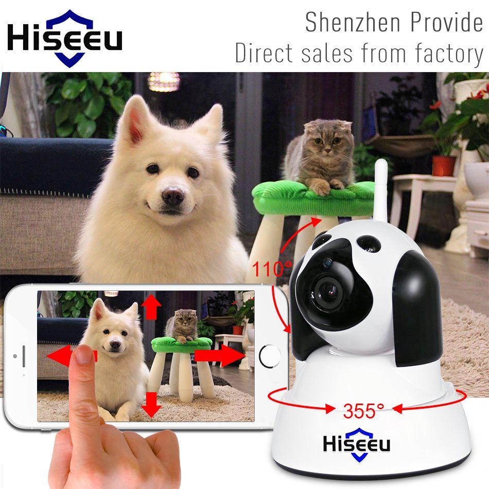 hiseeu Home Security IP Camera Wi-Fi Wireless Smart Pet Dog wifi Camera Surveillance 720P Night Vision CCTV Indoor Baby Monitor