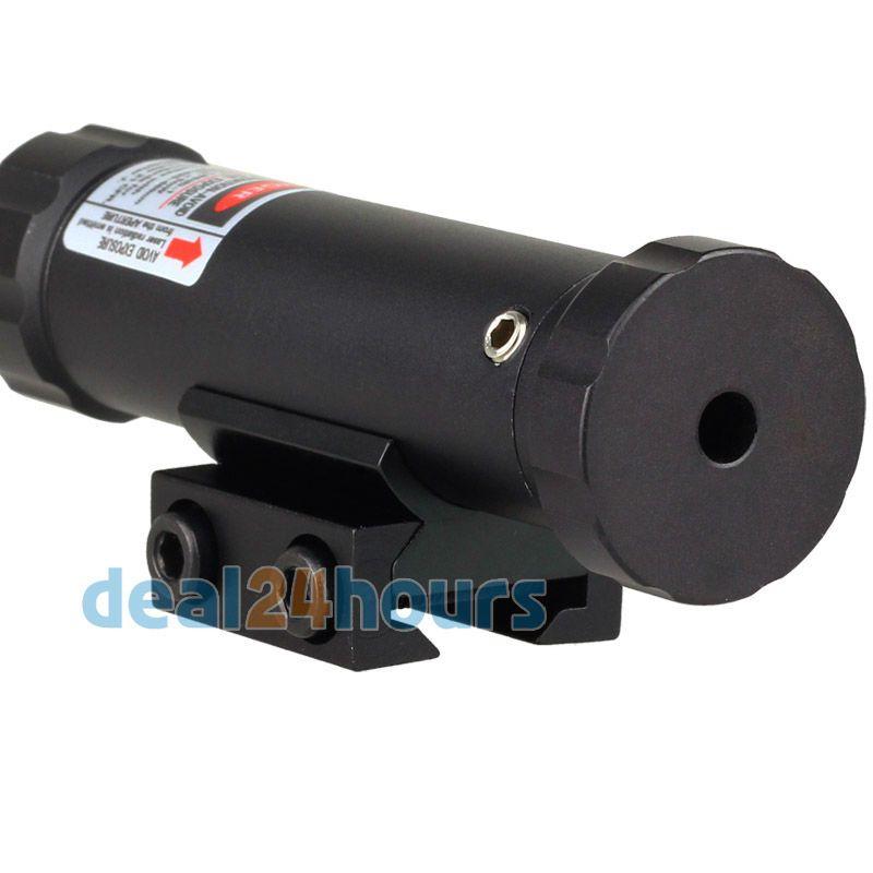 Portée Laser réflexe tactique rouge point de vue adapté pour rail de 11mm/20mm avec support et 2 interrupteurs pour fusil de chasse livraison gratuite