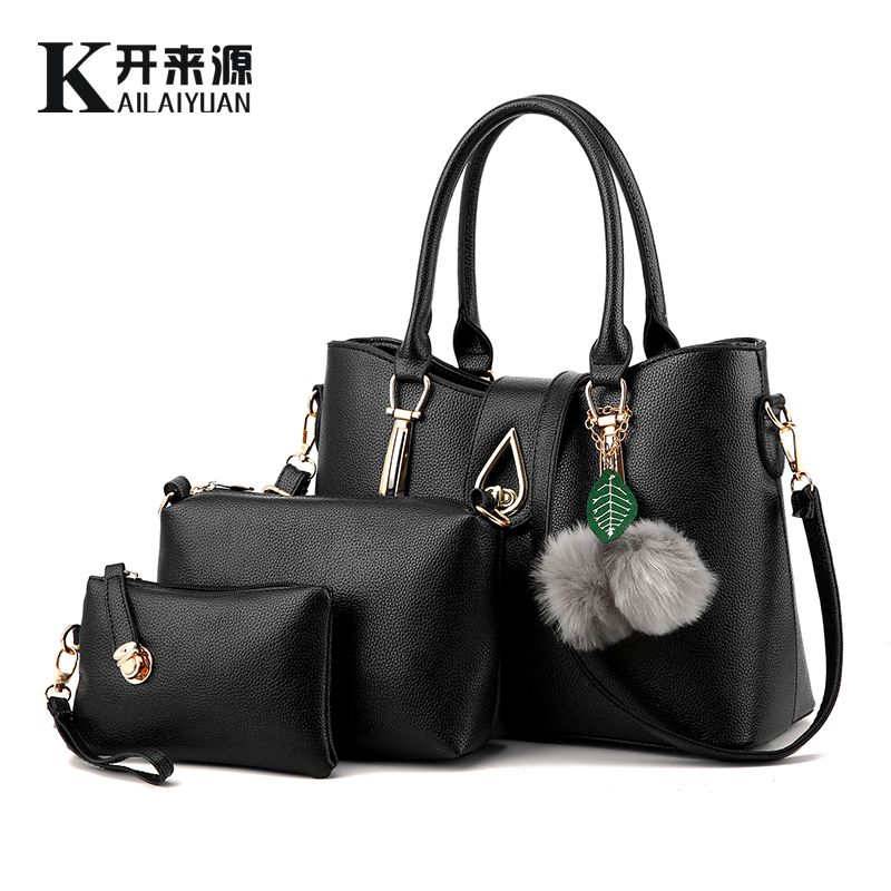 KLY 100% Genuine leather Women handbag 2018 New Europe atmospheric stereotypes fashion handbags Messenger shoulder bag