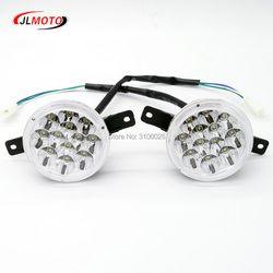 1Pair/2pcs LED Front Light of Jinling 110cc 150cc 200cc ATV Quad Bike JLA-13T-2 JLA-13-10 ArmadA ATV150B Parts