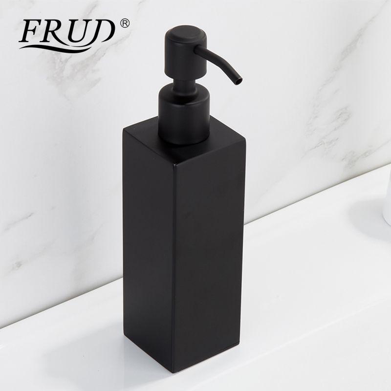 FRUD New Stainless Steel Hand Black Liquid Soap Dispenser Bathroom Accessories Kitchen Hardware Convenience Modern Y18004