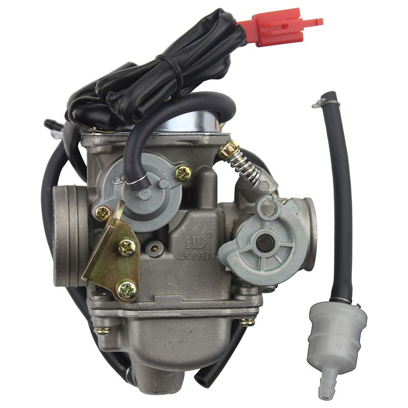 GOOFIT PD24J Carburetor 24mm Carb 42mm air filter motorcycle for Engine GY6 125 CC 150CC ATV Go Kart Moped and Scooter N090-058