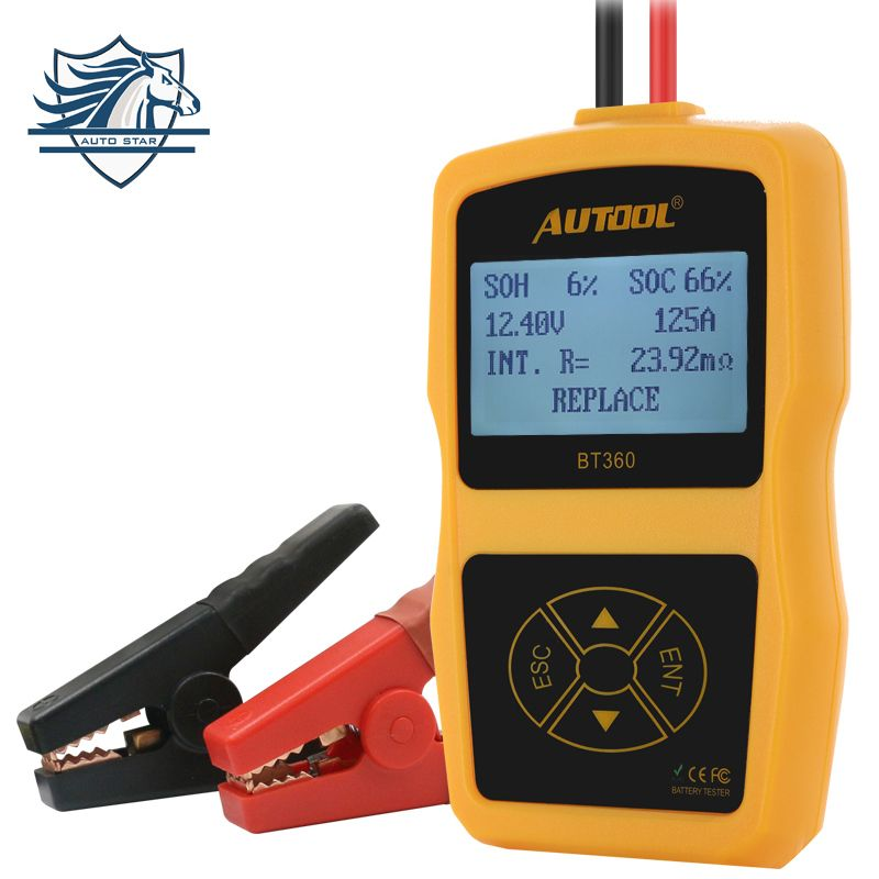 New looking Original Auto Battery Tester Autool BT360 12V Car Automotive Battery Analyzer Multi-Language Support 2000 EN/CCA