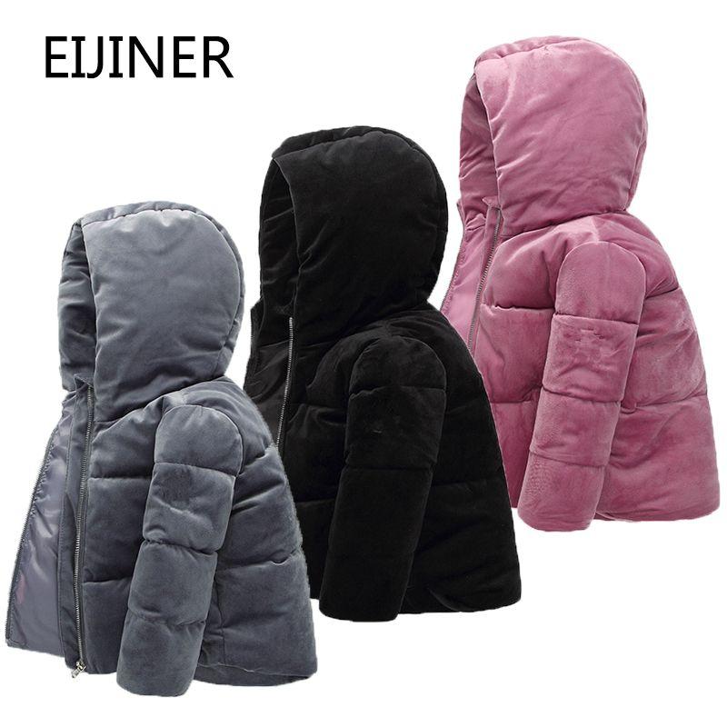 Filles vêtements d'hiver nouvelles vestes d'hiver pour les filles automne à capuche à manches longues bébé bambin garçons veste enfants parka