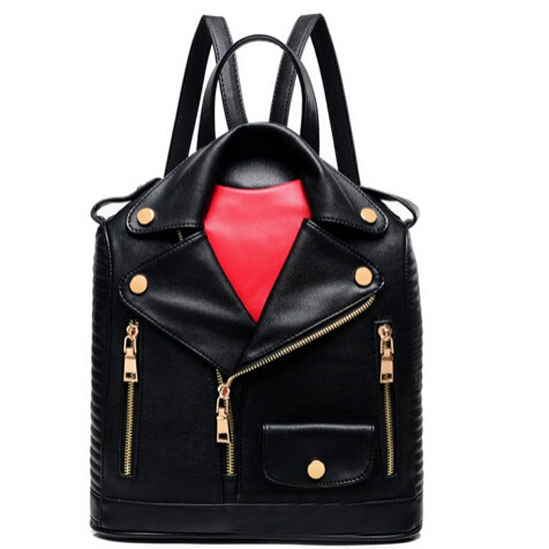 2018 Fashion Unique Clothes Design PU Women Leather BackpackS Female Travel Shoulder bag Women School Bag Hot Sale LJ430