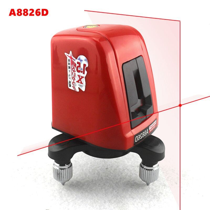 A8826D Laser Niveau 2 Rouge Croix Ligne 1 Point AK435 Horizonatal Vertival 360 Rotatif Auto-nivellement Nivel Laser De Diagnostic outils