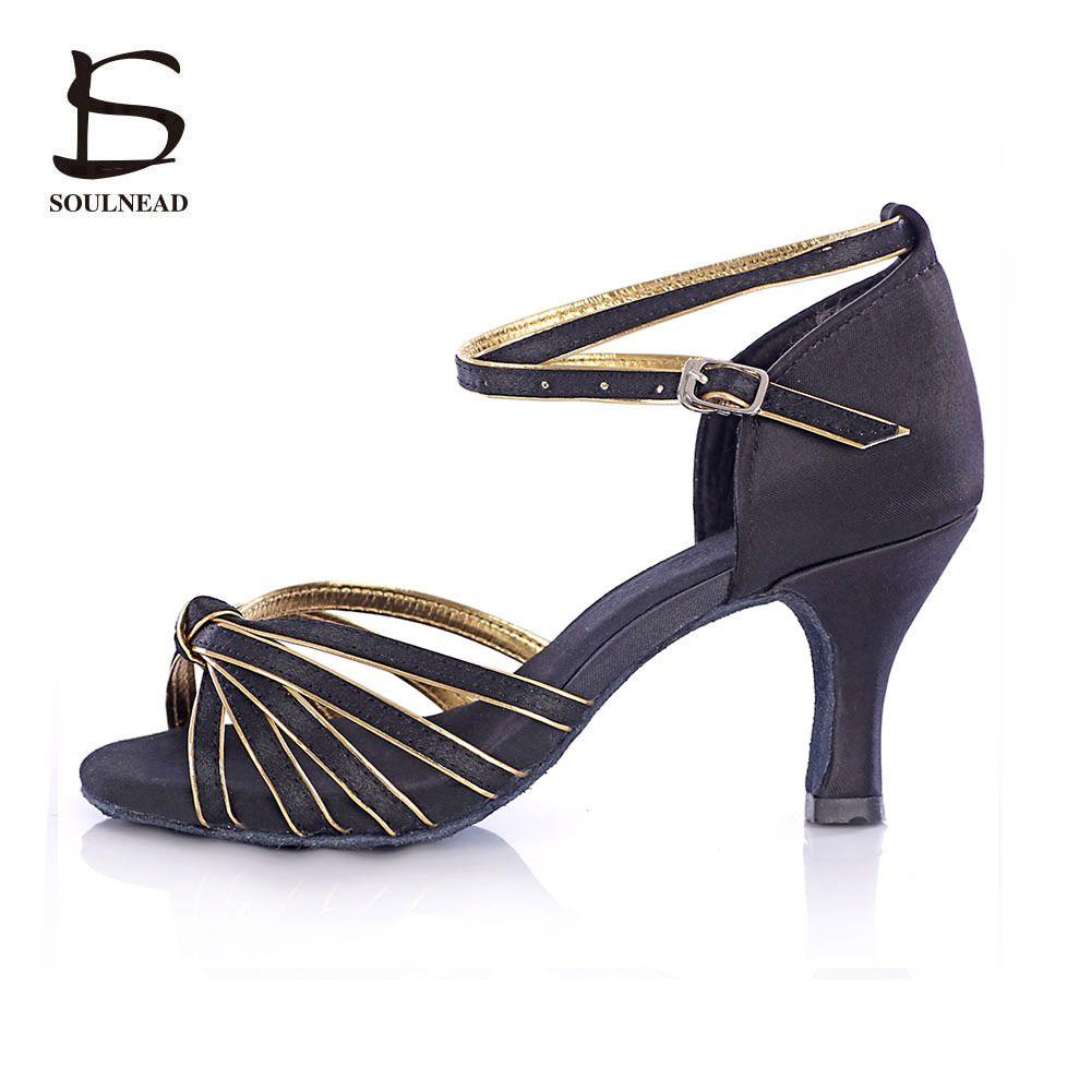 Hot Latin Dance Shoes Adult Tango Salsa Ballroom Dancing Shoes Heeled 5/7cm Dance Shoes Women Ballroom Dance Zapato Girls Shoes