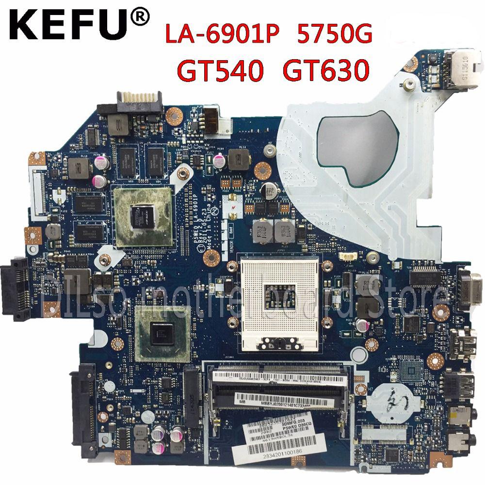 KEFU P5WE0 LA-6901P motherboard für acer 5750 5750G 5755 5755g laptop motherboard HM65 GT630M original Test motherboard